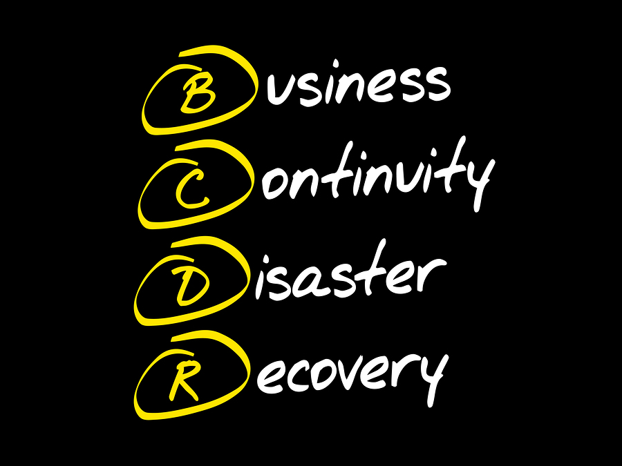 BCDR - Business Continuity Disaster Recovery acronym business concept